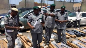 TINCAN ISLAND PORT INTERCEPTS LARGE QUANTITY OF PUMP ACTION RIFFLES CONCEALED WITH POP CEMENT