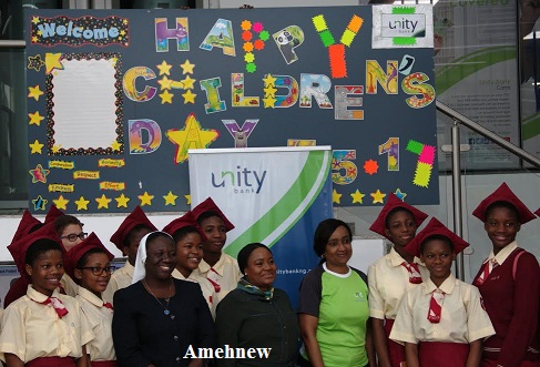 Children's Day: Unity Bank MD hosts Holy Child College students
