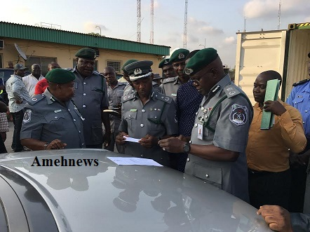 NCS TINCAN ISLAND PORT HANDS OVER 2 SUSPECTED STOLEN RANGE ROVER SPORTS UTILITY VEHICLES TO INTERPOL