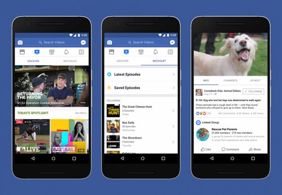 Facebook unveils 'Watch' Platform for Exclusive TV Shows, Sports