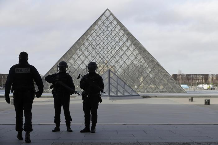 French soldier shoots and wounds knife-wielding attacker at Paris Louvre