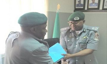 COMPTROLLER MOHAMMED ALIYU TAKES OVER SEME AREA COMMAND