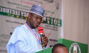 Governor Bello Rigs Bell 'We remain committed to peace, security'