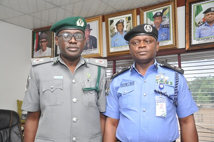 CUSTOMS AREA CONTROLLER TINCAN ISLAND PORT COMMAND'S VISIT TO THE COMMISSIONER OF POLICE, WESTERN PORTS COMMAND
