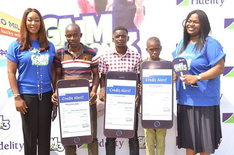 Fidelity Bank present over N19m in cash and consolation prizes to winners of its Get Alert in Millions Savings Promo Season 3 (GAIM 3)
