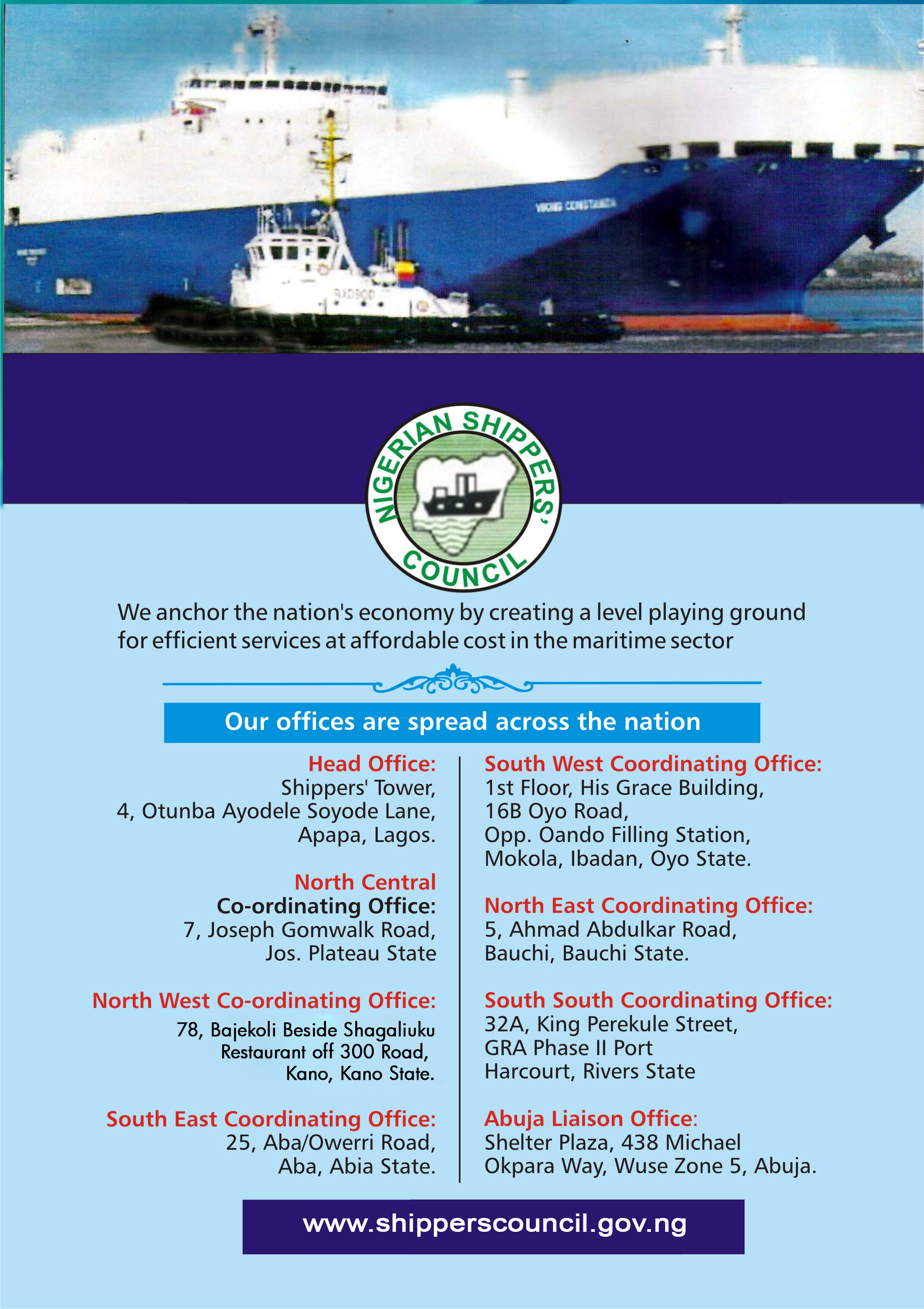shippers council Advert