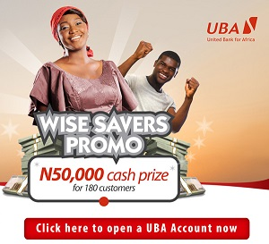 UBA's Wise Savers Promo; 20 winners emerged to gets N1.5million each value N30million