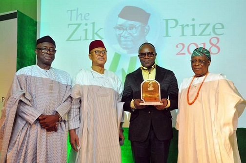 Dr Ibe Kachikwu honour at Zik Public Services Award