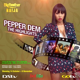 BBNaijaPepper DemHighlights Show Premieres Tonight on DStv and GOtv!