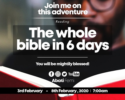 The Whole Bible in 6 days: It is an instruction from God- Organisers